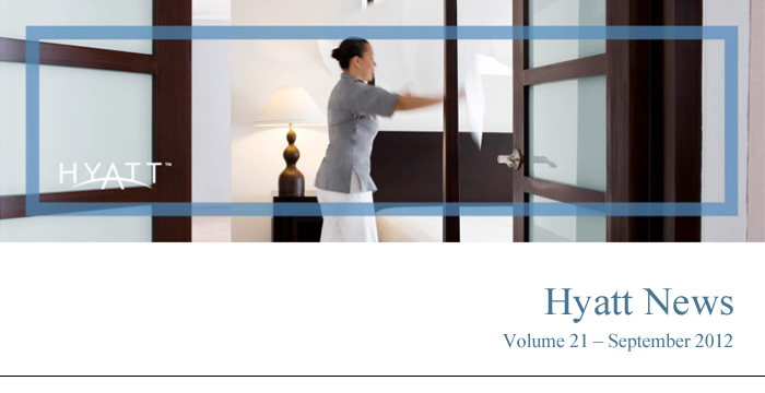 HYATT NEWS Volume 21 - August 2012