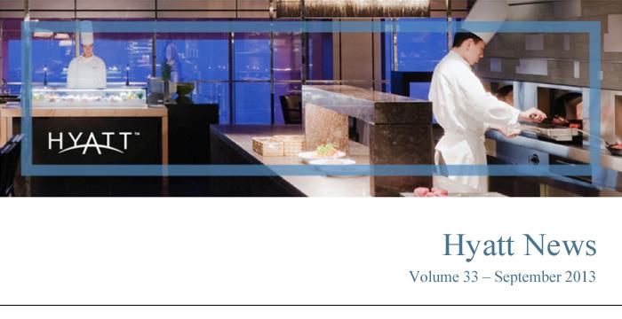 HYATT NEWS Volume 33 - September 2013